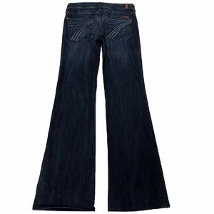 7 For All Mankind Dojo 27X32.5 Flare Dark Jeans